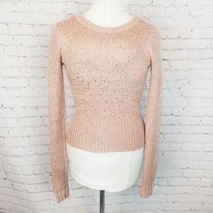 Rachel Rachel Roy|Pink Sparkle Knit Sweater